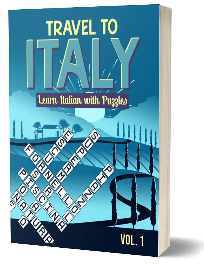 Travel to Italy Puzzle book - Learn Italian with Puzzles
