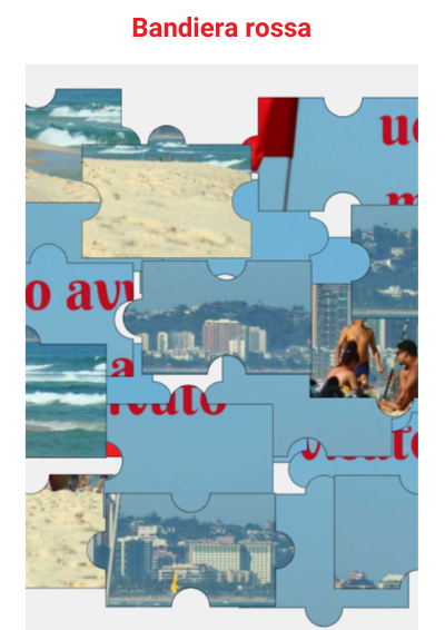 Italian Online Jigsaw Bandiera Rossa